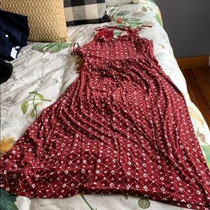 Loft T-shirt style halter dress
